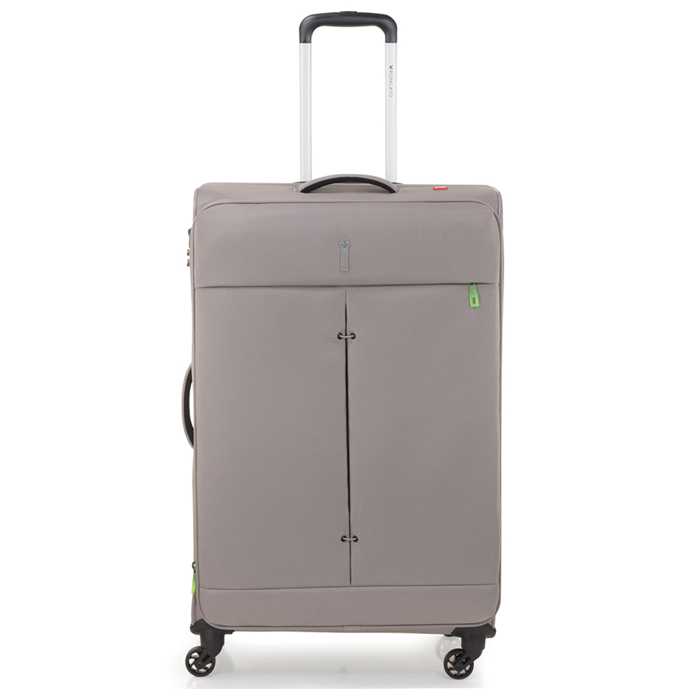 Большой чемодан 78х48х29-32см Roncato Ironik бежевого цвета для путешествий