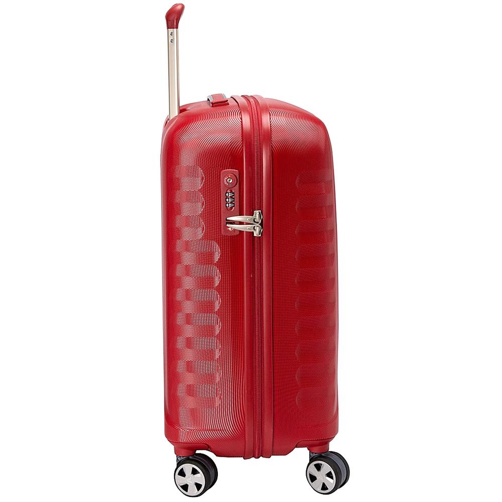 Маленький красный чемодан 55х40х25см Roncato Uno ZSL Premium с корпусом из поликарбоната