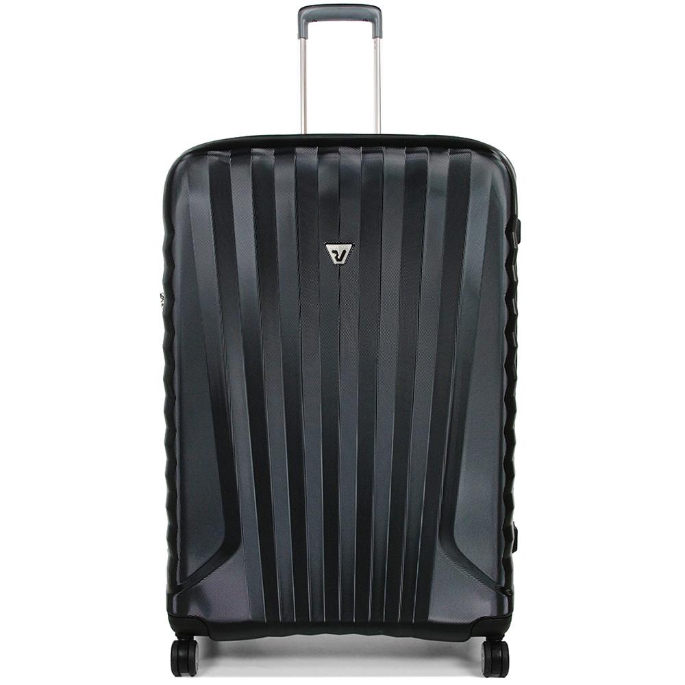 Чемодан черного цвета 71x46x24см Roncato Uno ZSL Premium среднего размера
