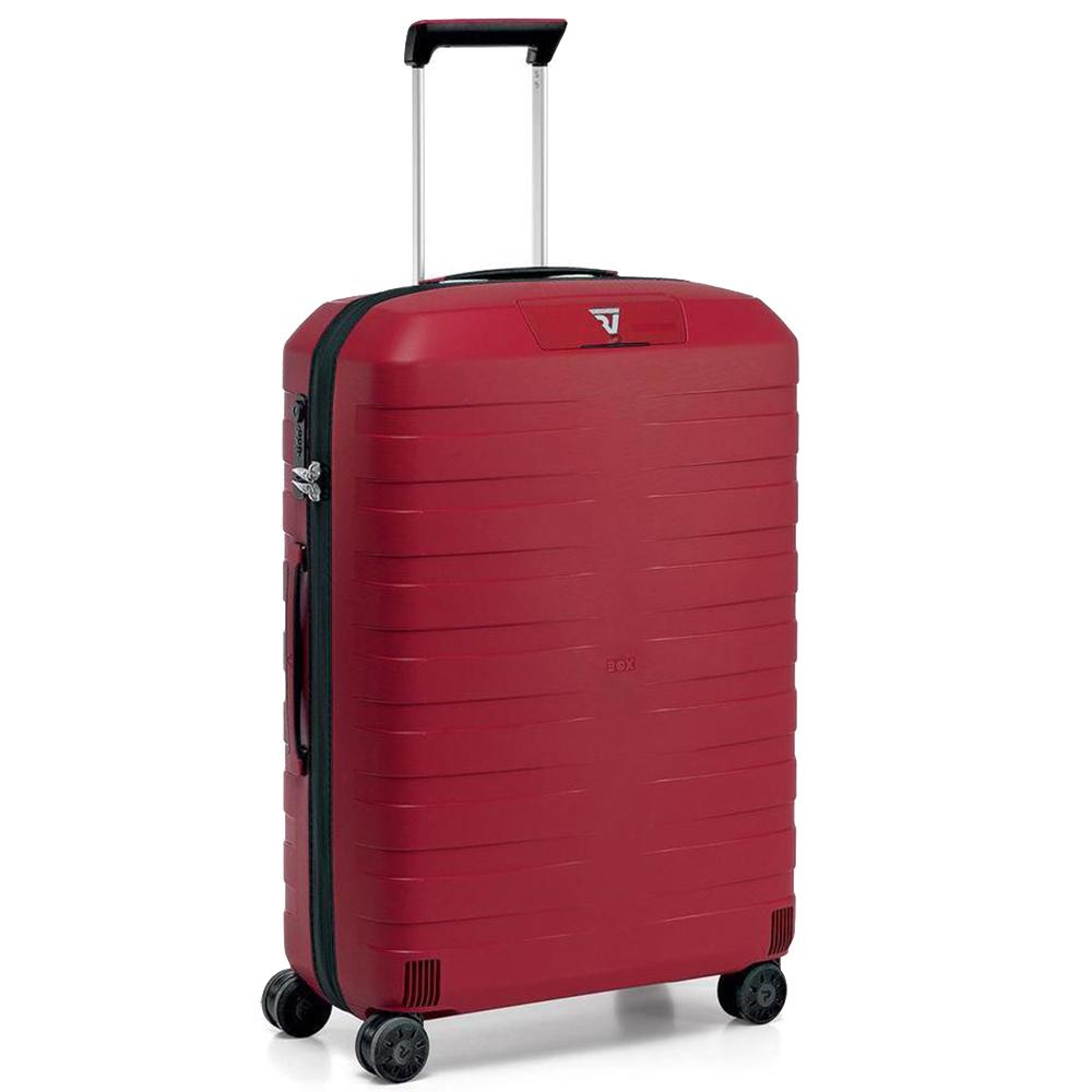 Чемоданы Roncato Box с красным корпусом из полипропилена