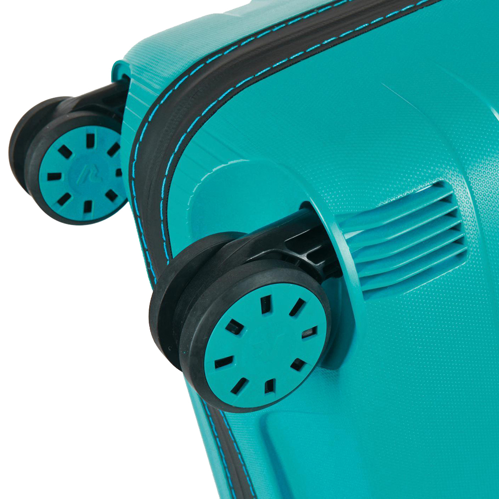 Чемоданы бирюзового цвета Roncato Box с 4х колесной системой
