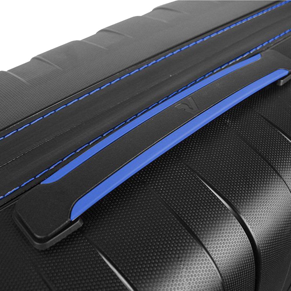 Набор чемоданов Roncato Box с корпусом черного цвета с синим декором