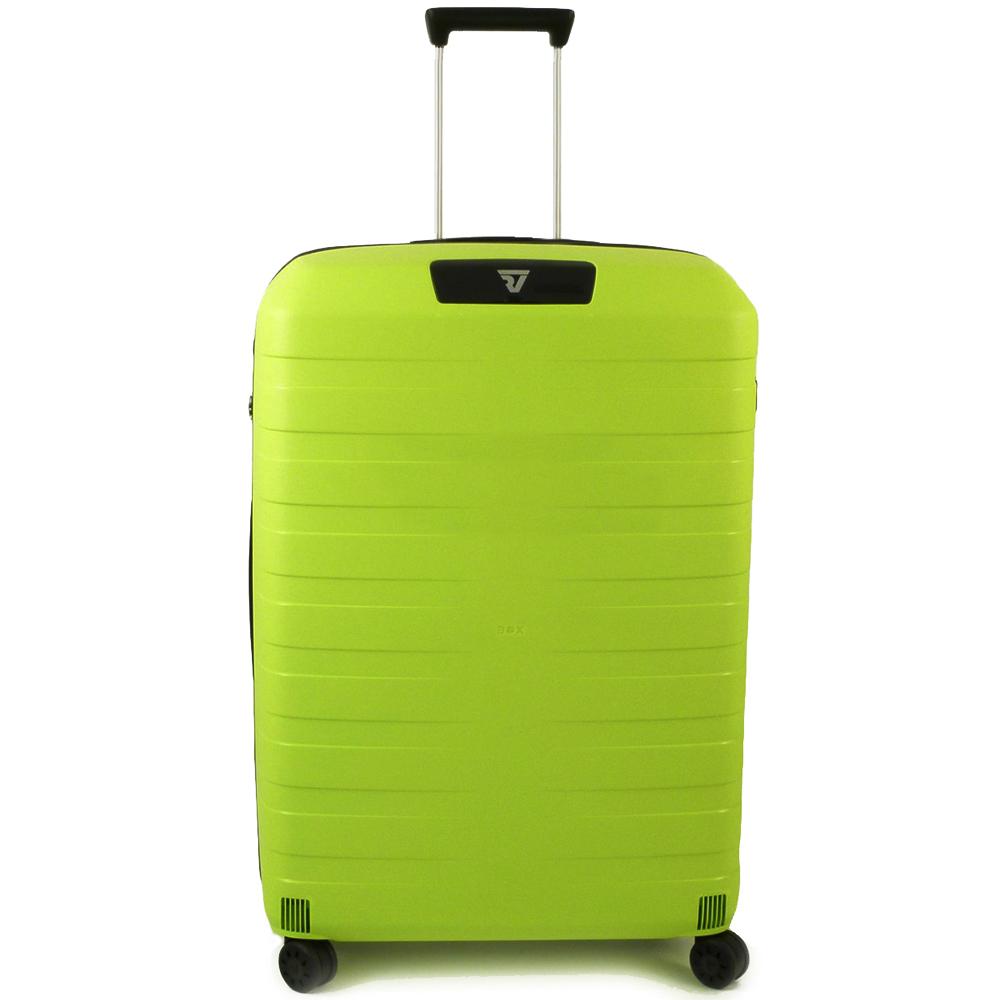 Среднего размера чемодан 69x46x26см Roncato Box с корпусом салатового цвета
