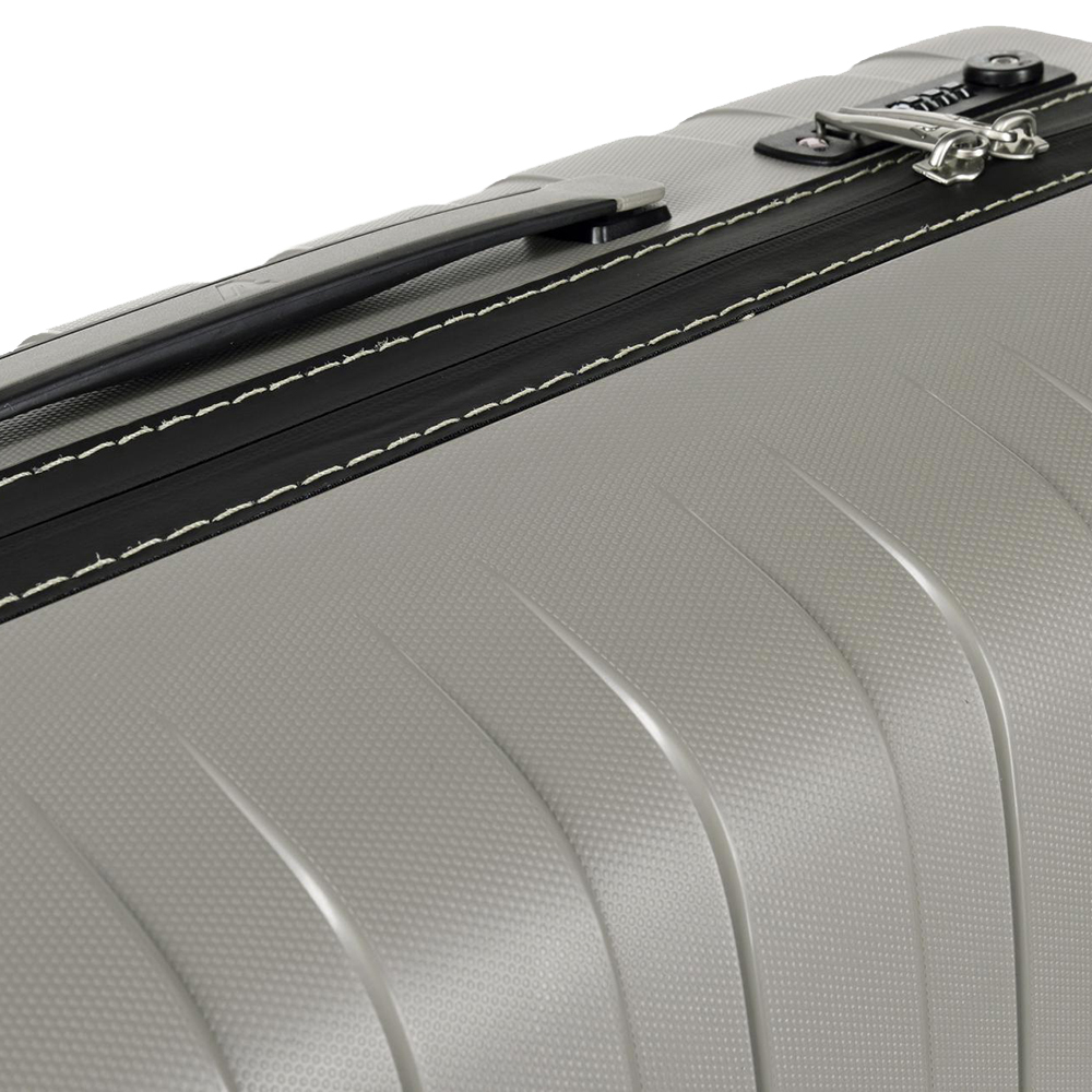 Чемодан бежевого цвета 69x46x26см Roncato Box с корпусом из полипропилена