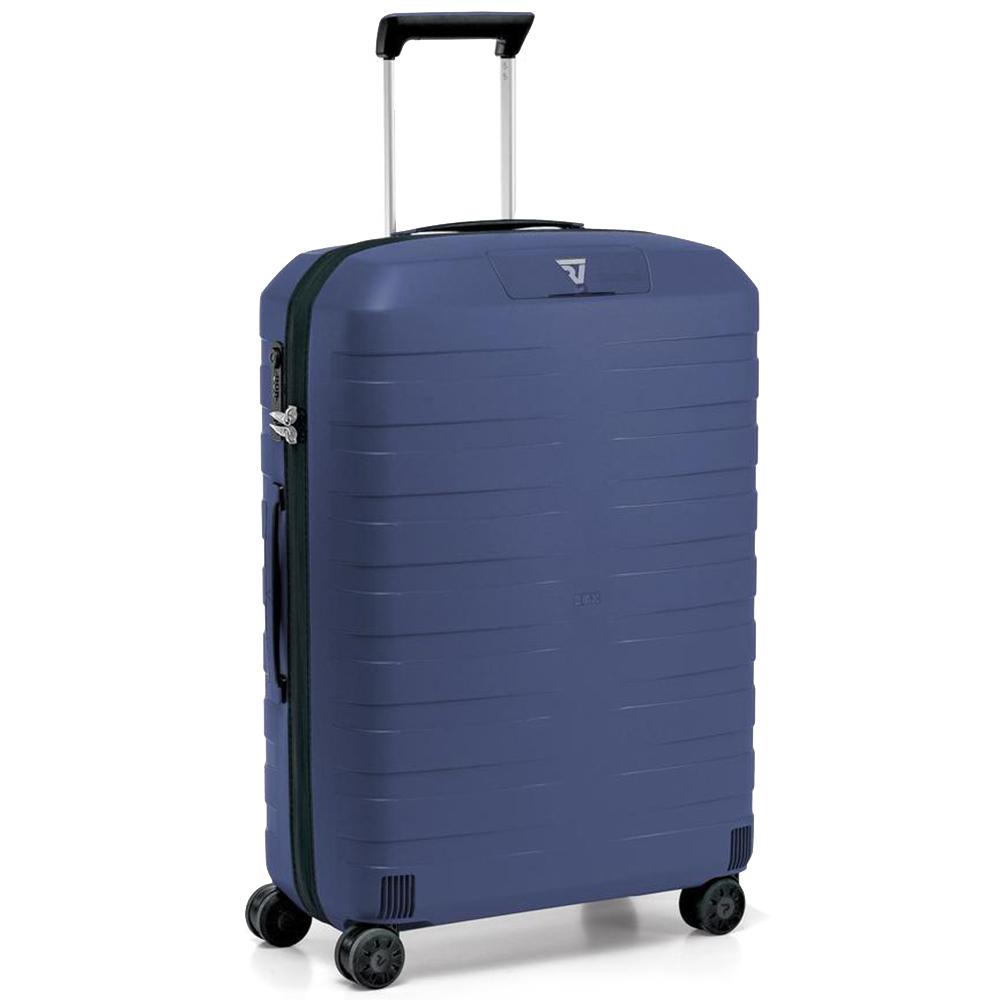 Синий чемодан для путешествий 69x46x26см Roncato Box среднего размера