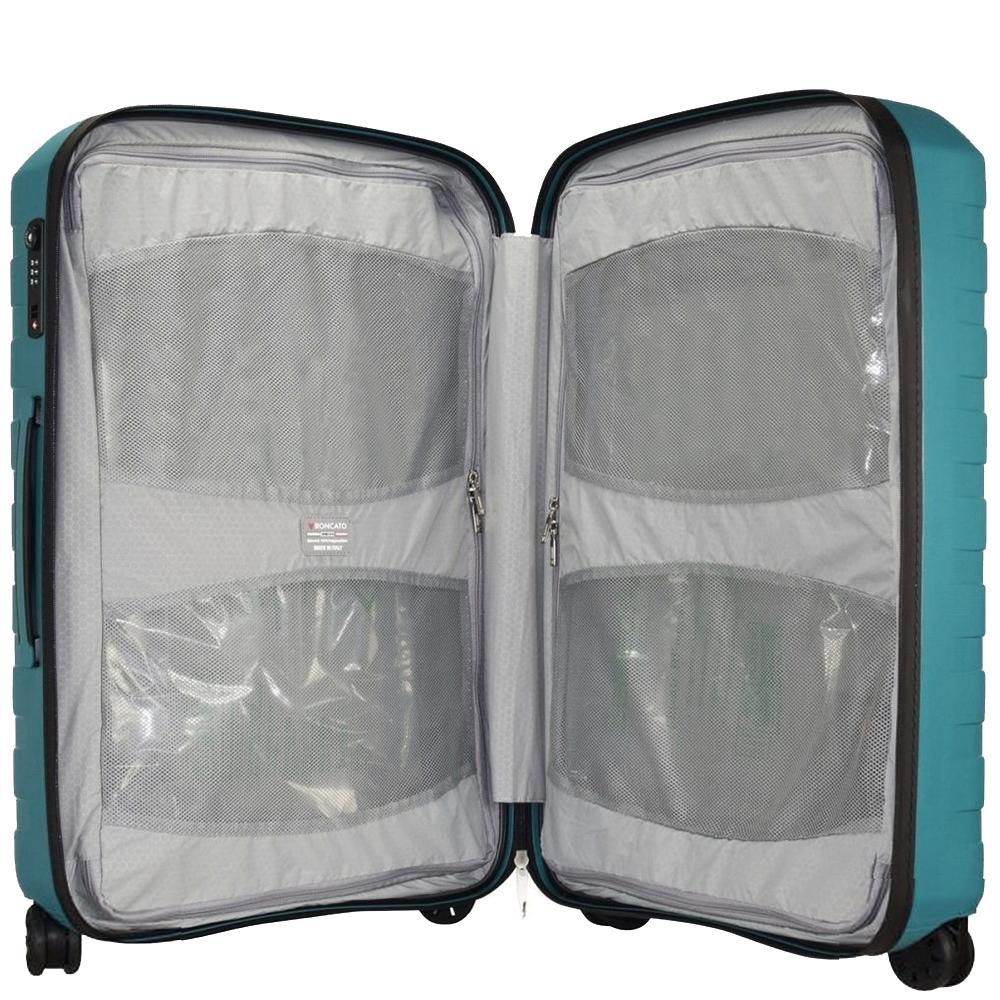 Синий среднего размера чемодан 69x46x26см Roncato Box с корпусом из полипропилена