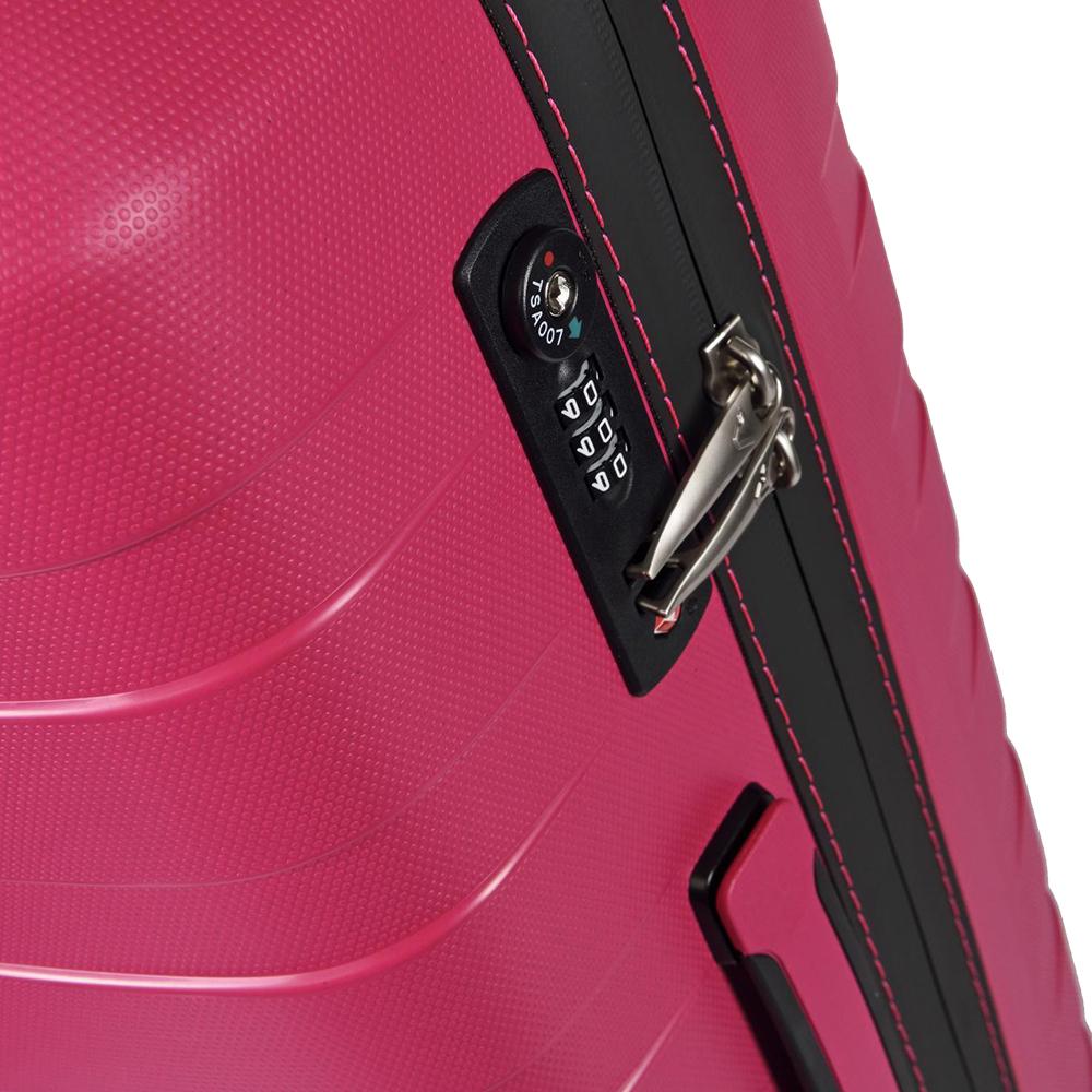 Набор чемоданов Roncato Box розового цвета с 4х колесной системой