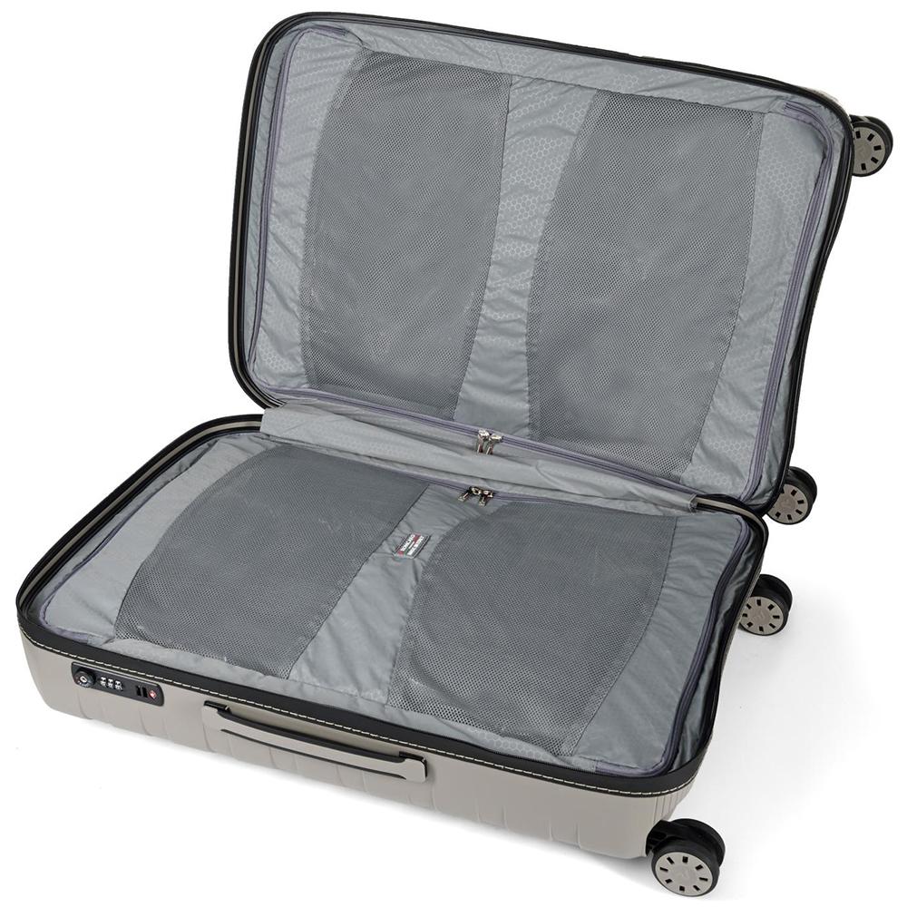 Набор чемоданов бежевого цвета Roncato Box на 4х колесах