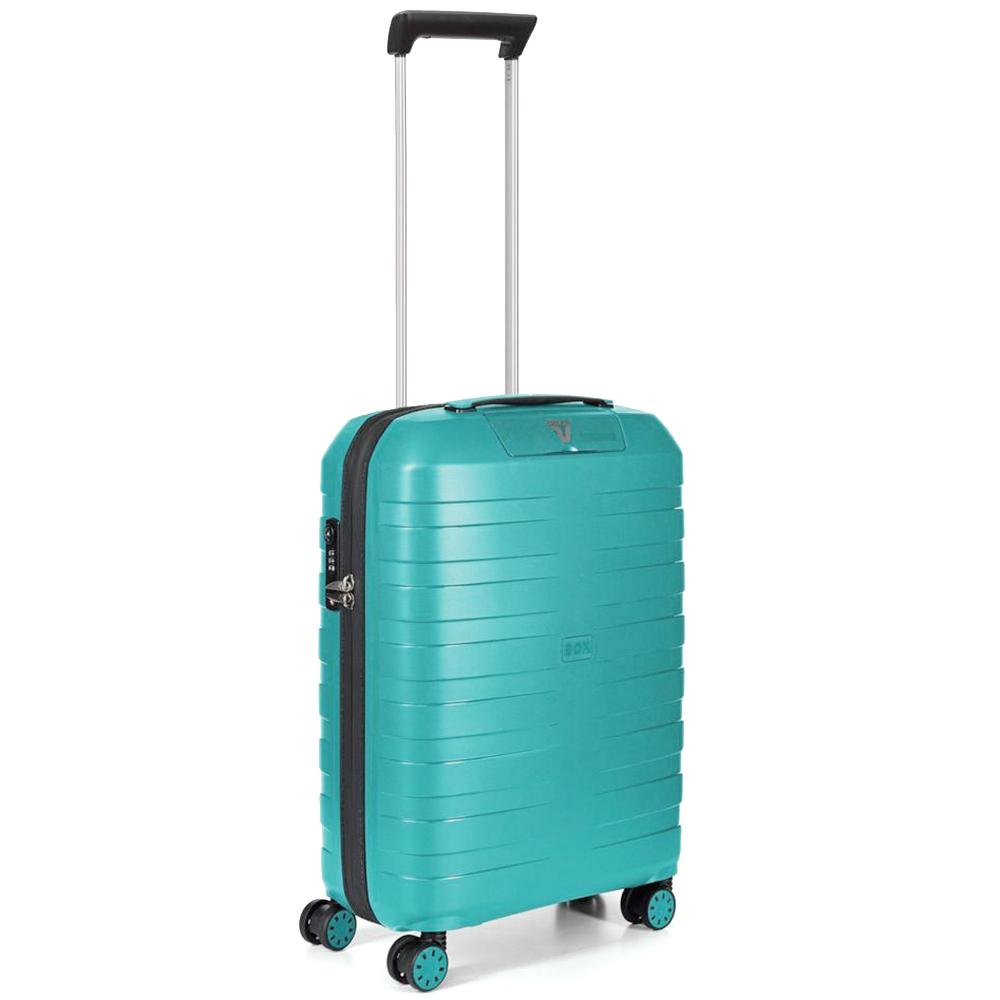 Набор чемоданов бирюзового цвета Roncato Box с замком блокировки TSA