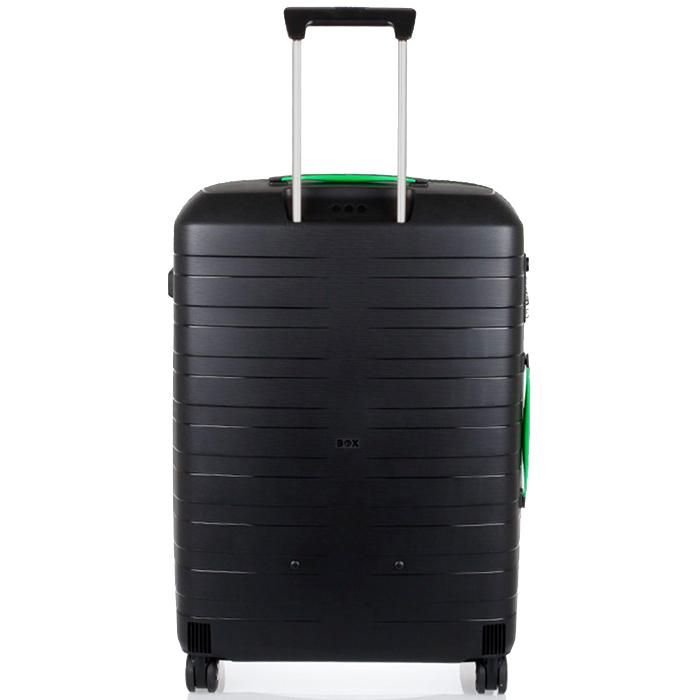 Черные чемоданы Roncato Box с выдвижной телескопической ручкой