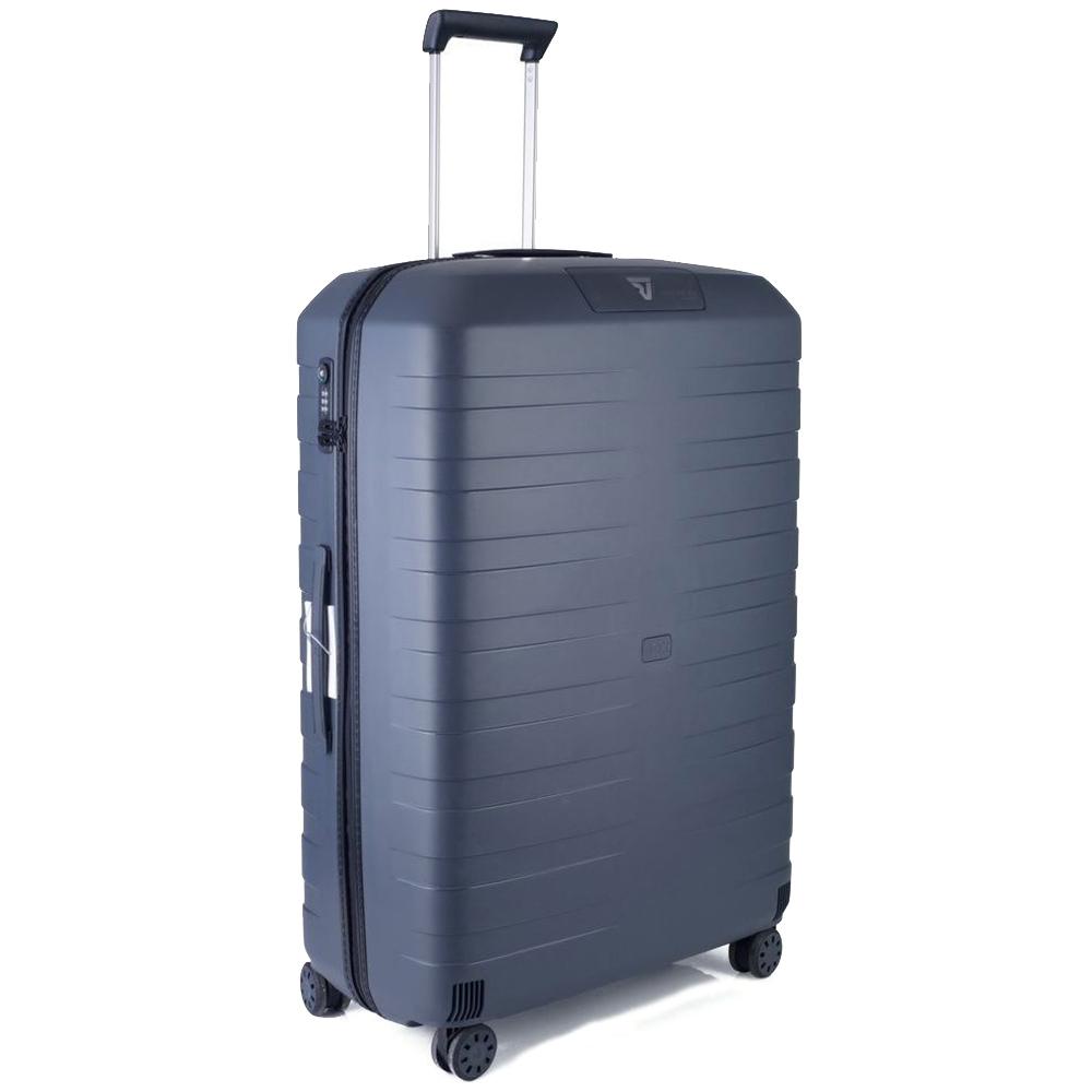 Большой черный чемодан 78х50х30см Roncato Box 2.0 с корпусом из полипропилена