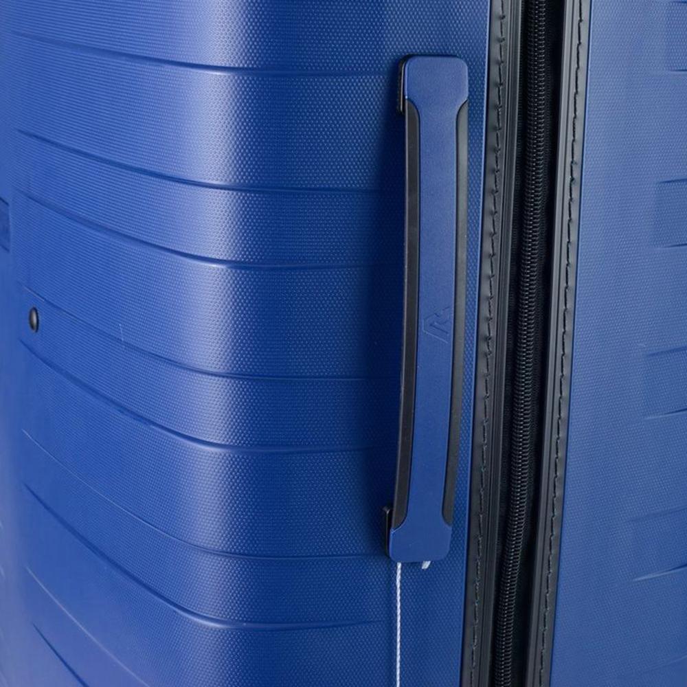 Чемодан синего цвета 78х50х30см Roncato Box 2.0 с кодовым замком TSA