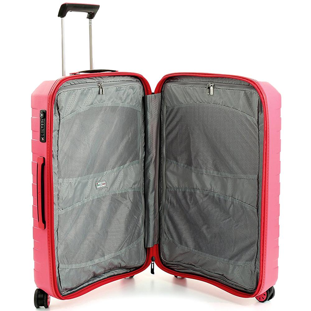 Большой чемодан 78х50х30см Roncato Box 2.0 с корпусом красного цвета
