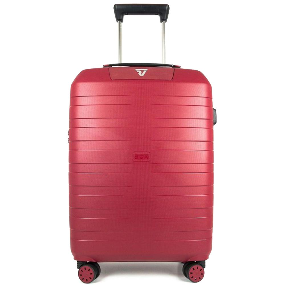 Красный чемодан 55х40х20см Roncato Box 2.0 размера ручной клади