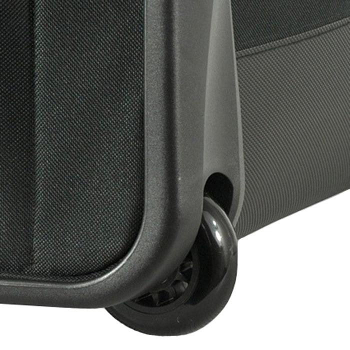 Маленький черный чемодан 52х36х20см Puccini Camerino с 2х колесной системой