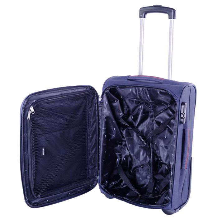 Синий чемодан 52х36х20см Puccini Camerino размера ручной клади