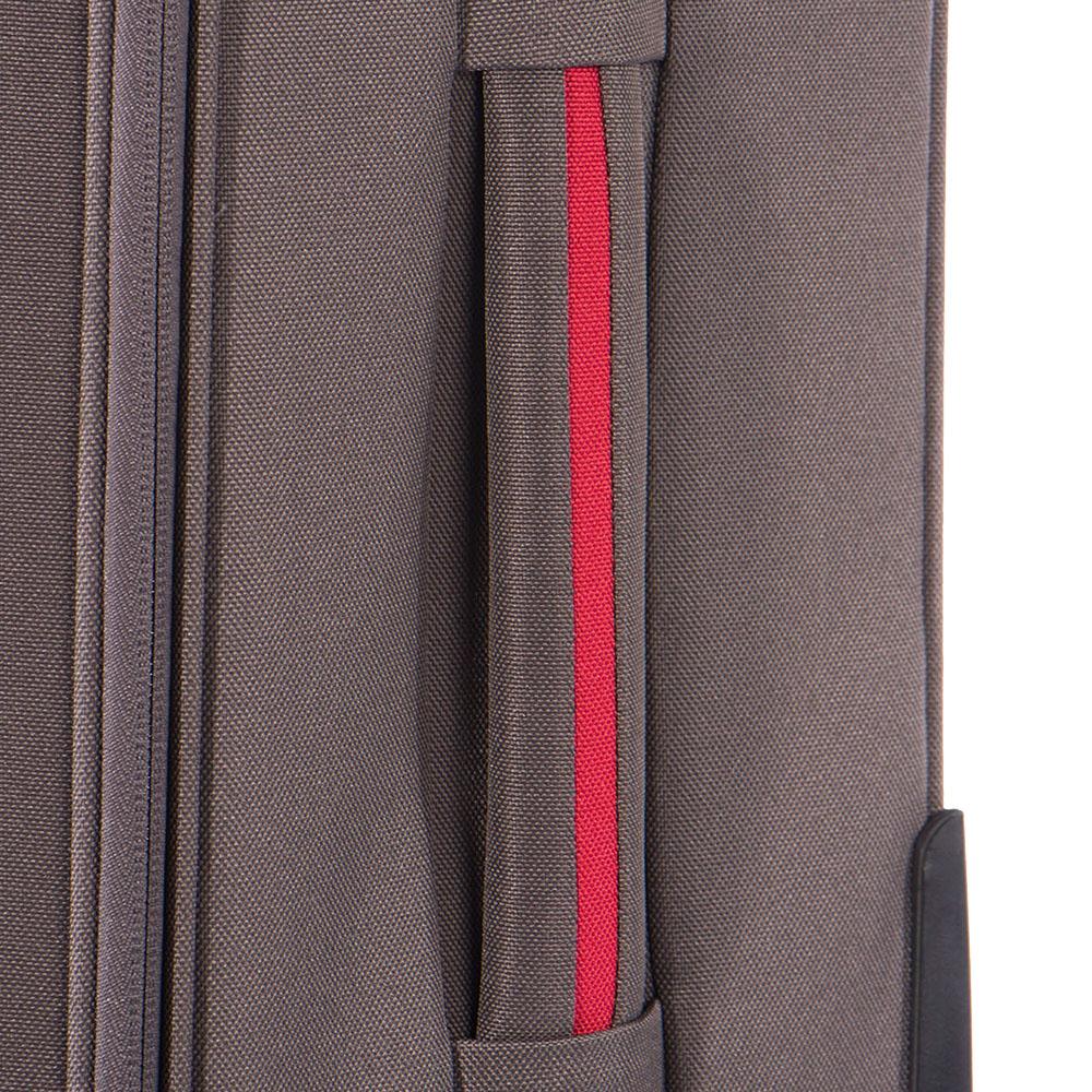 Чемодан серого цвета 52х36х20см Puccini Camerino размера ручной клади