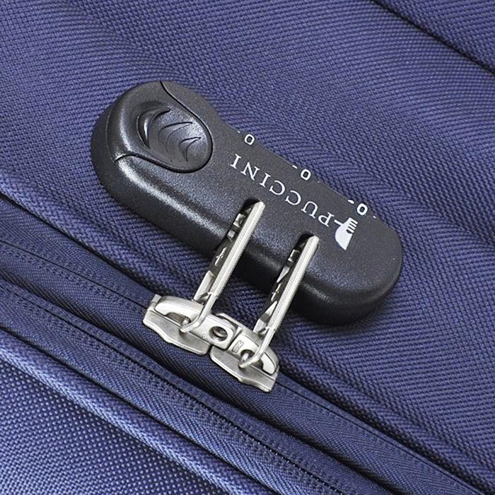 Среднего размера чемодан 63x41x27см Puccini Camerino в синем цвете