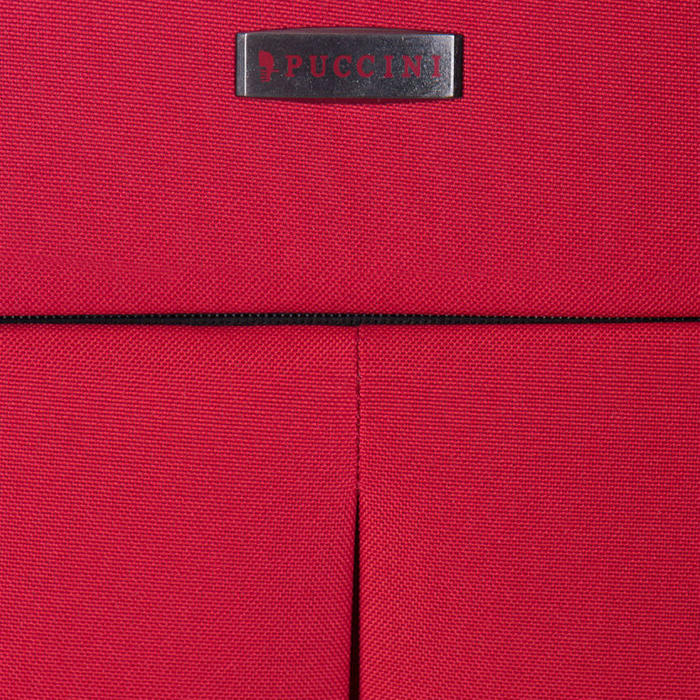 Чемодан большого размера 71х45х30-35см Puccini Latina с корпусом красного цвета