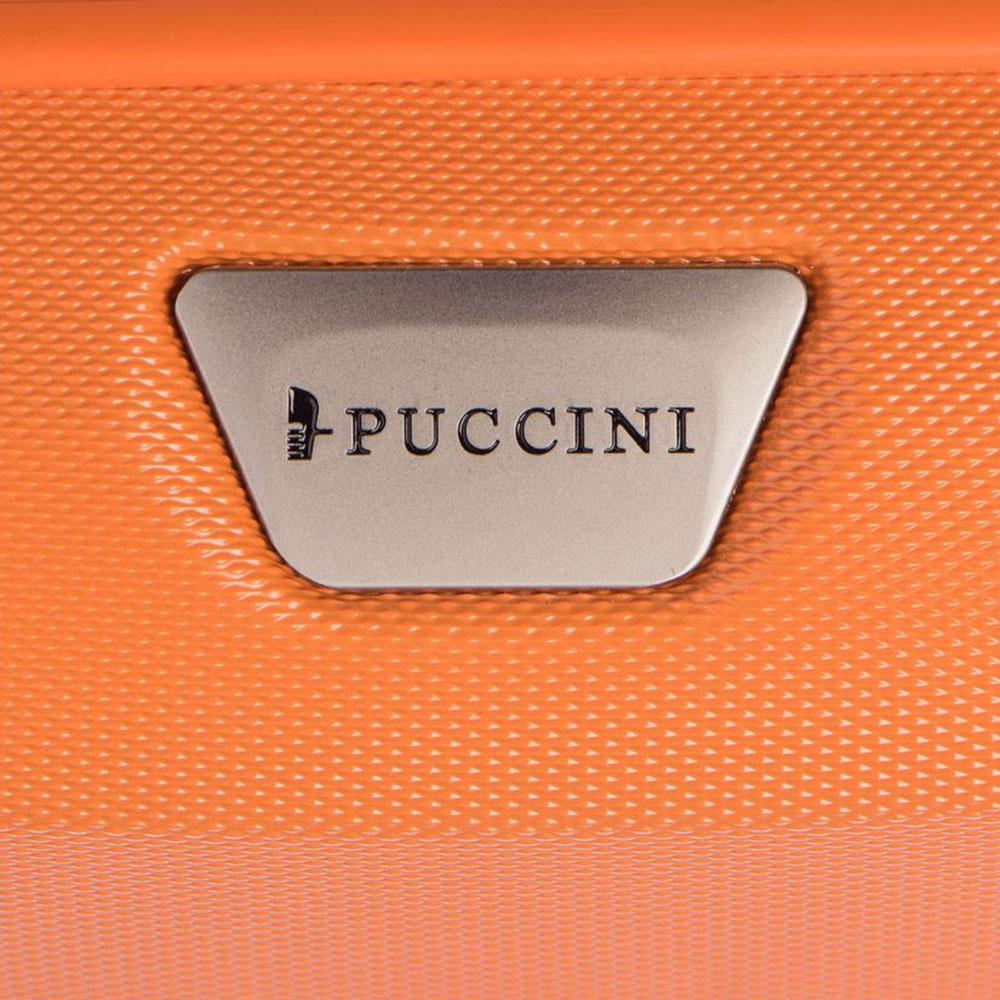 Маленький чемодан 55х40х20см Puccini Paris оранжевого цвета с телескопической ручкой