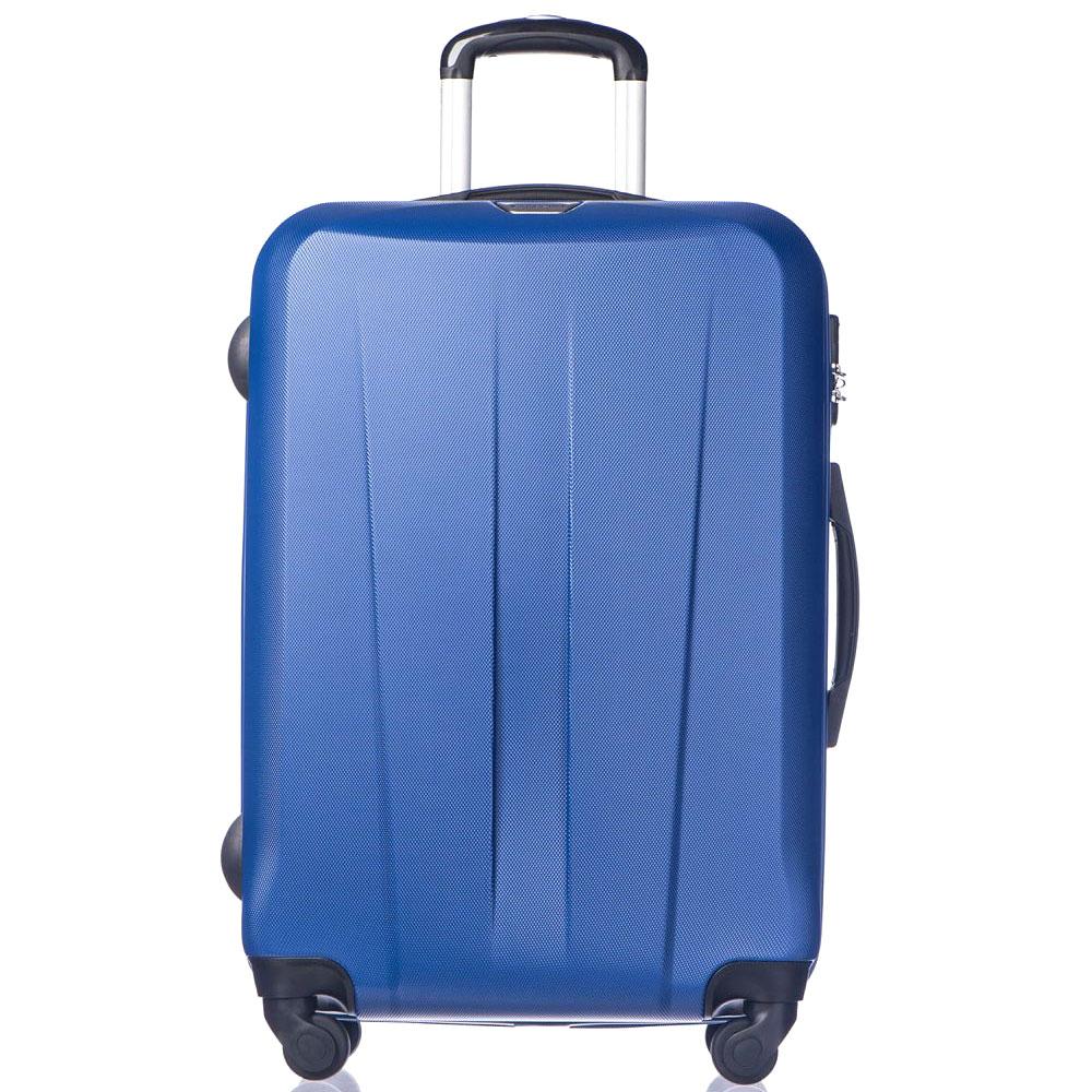 Среднего размера синий чемодан Puccini Paris на молнии