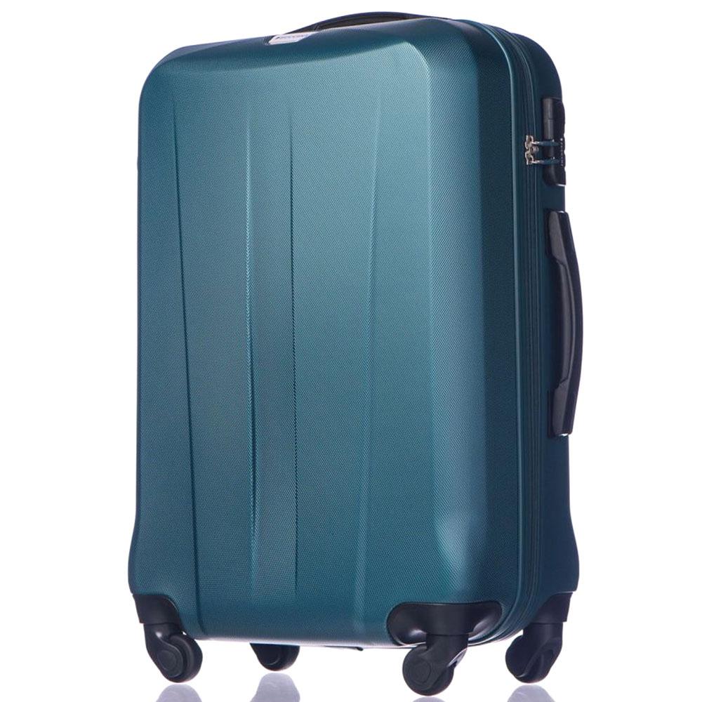 Набор чемоданов Puccini Paris с корпусом зеленого цвета