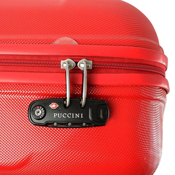 Чемодан маленького размера 55х39х20см Puccini PC015 в красном цвете