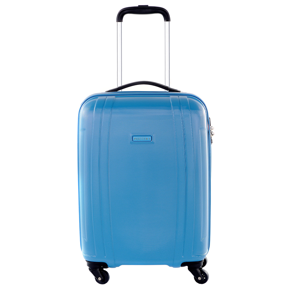Чемодан голубого цвета 55х39х20см Puccini PC015 размера ручной клади