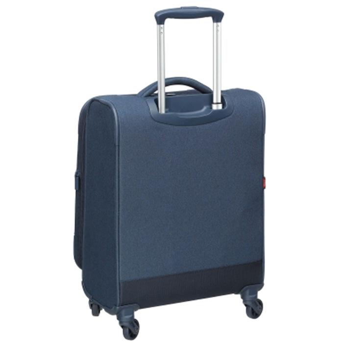 Маленький синий чемодан 55х25х37см Hedgren Escapade с 4х колесной системой