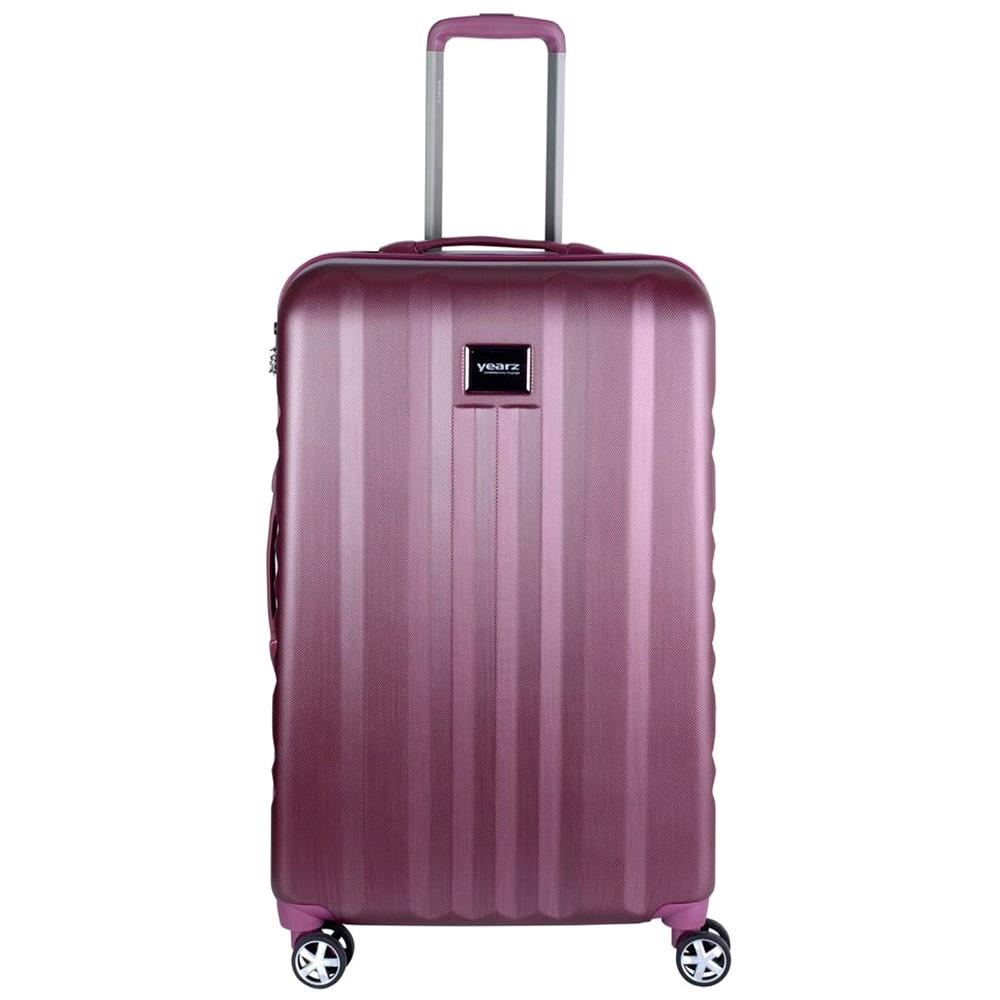 Большой чемодан розового цвета 75х30х47см March Fly с замком блокировки TSA