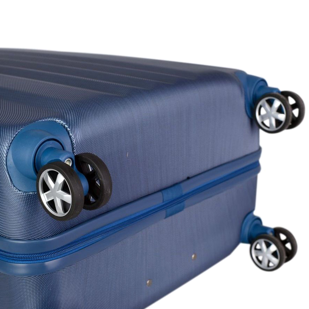 Синий чемодан большого размера 75х30х47см March Fly с телескопической ручкой