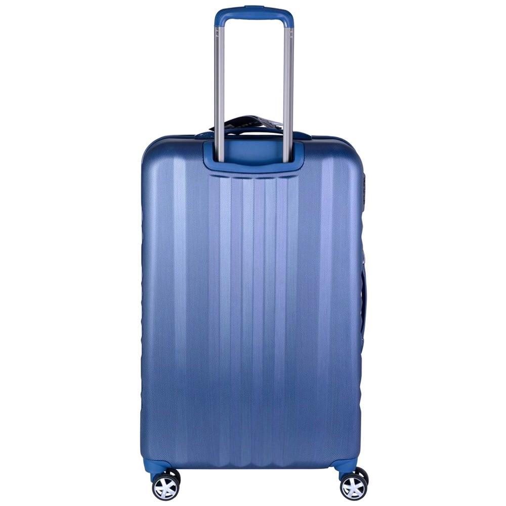 Чемодан синего цвета 65x26x40см March Fly среднего размера на молнии