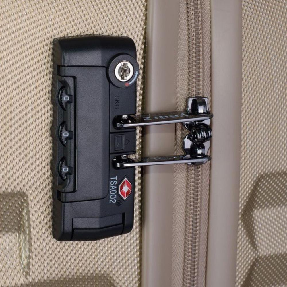 Маленький чемодан 55х35х20см March Fly золотого цвета с телескопической ручкой