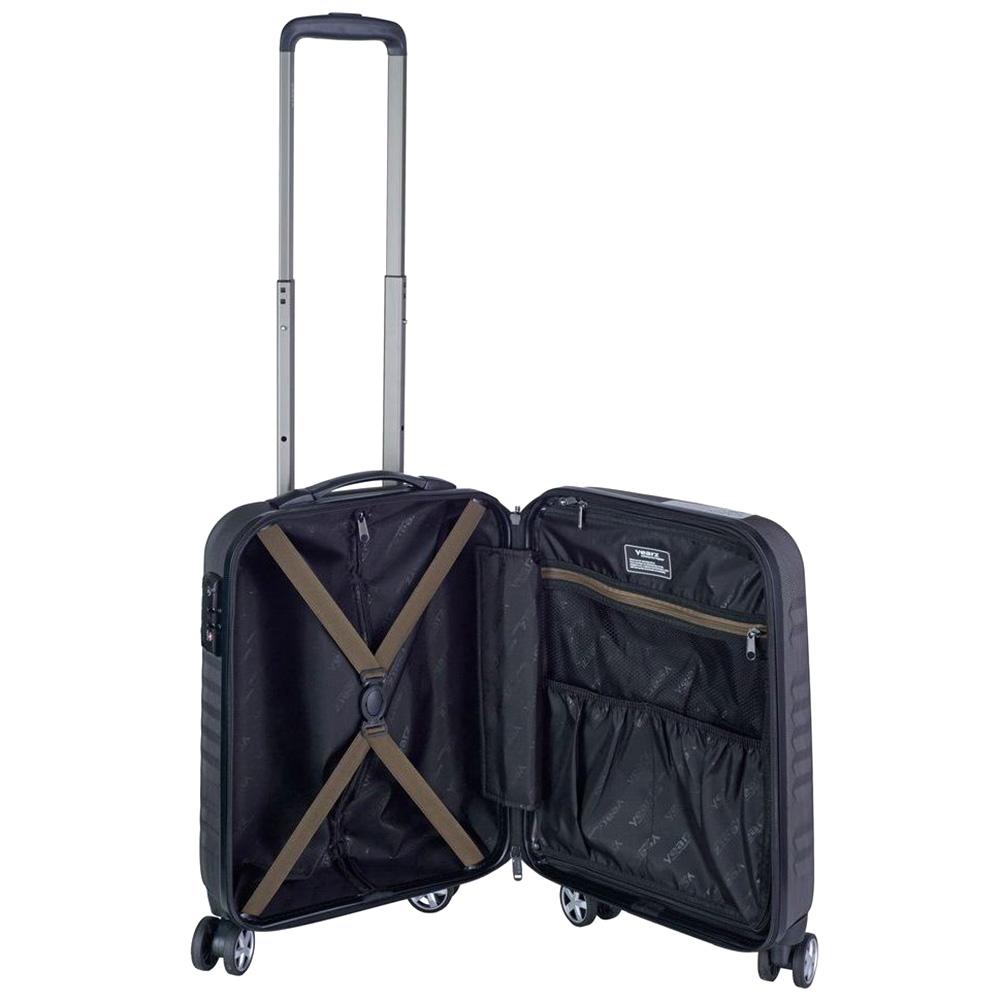Маленький чемодан 55х35х20см March Fly серого цвета для путешествий