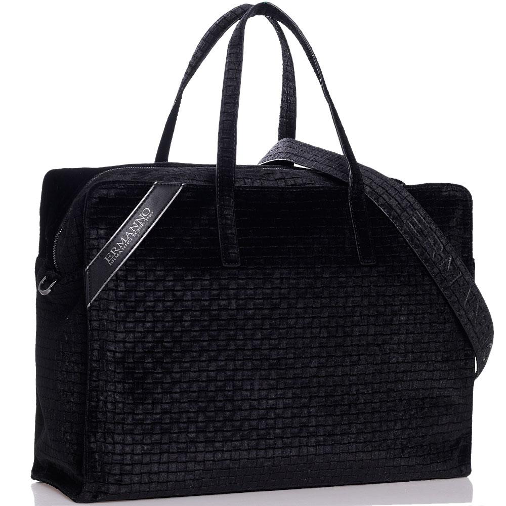 Черная дорожная сумка Ermanno Ermanno Scervino Daria из вельвета