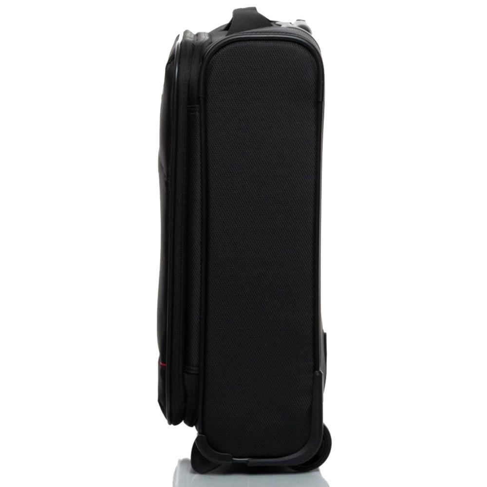 Черный чемодан 55х40х20-23см Roncato Jazz малого размера