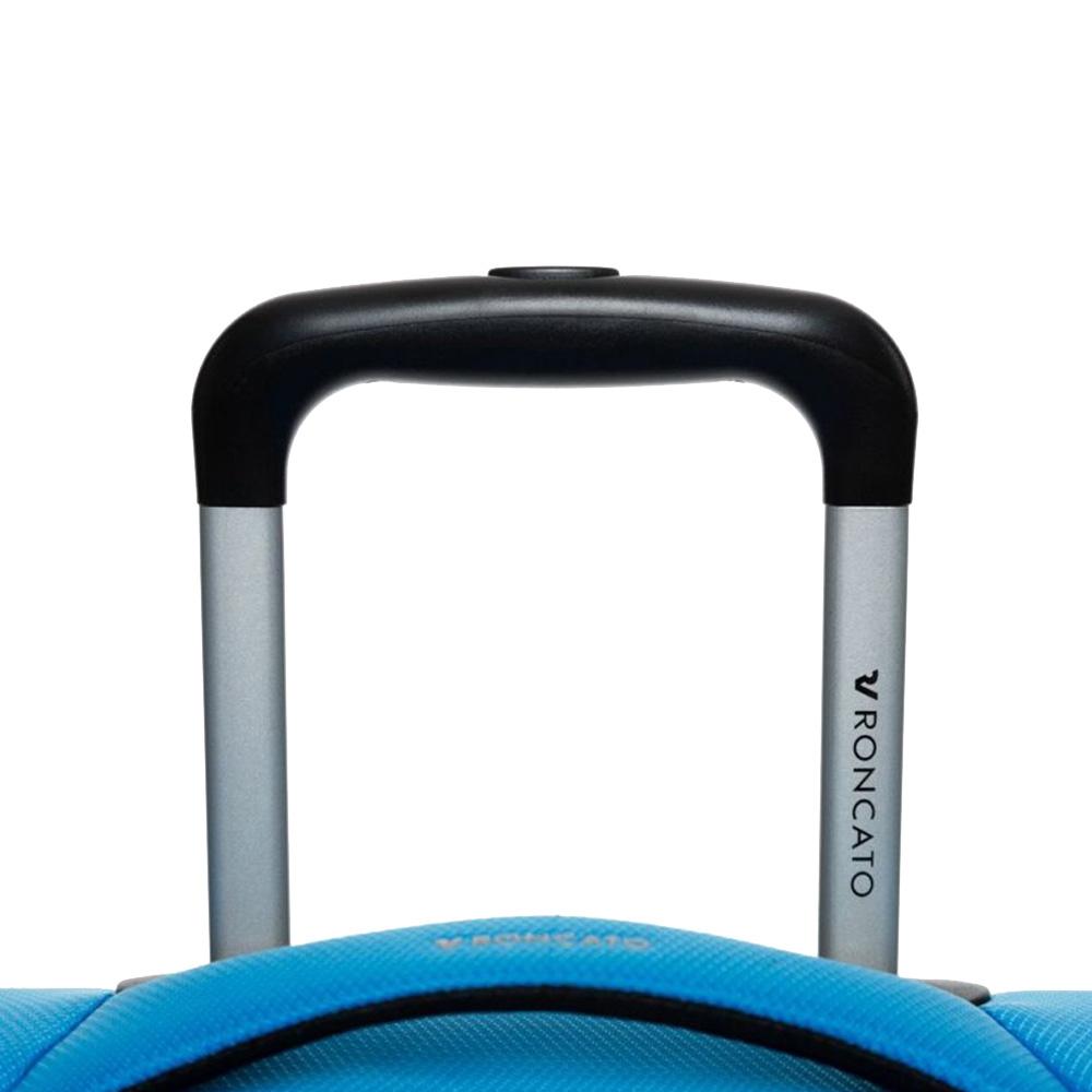 Дорожный малый чемодан 55х40х20-23см Roncato Jazz голубого цвета