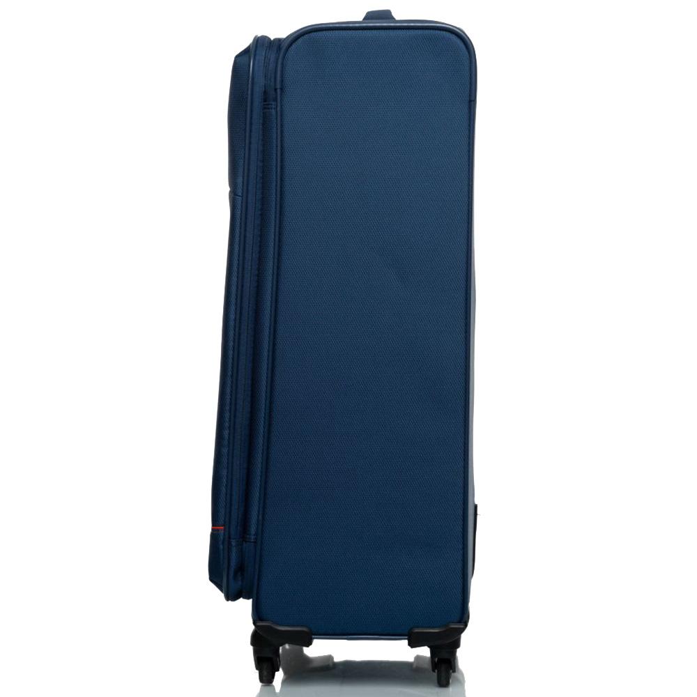 Дорожный темно-синий чемодан 76х48х30см Roncato Jazz на 4-х колесах