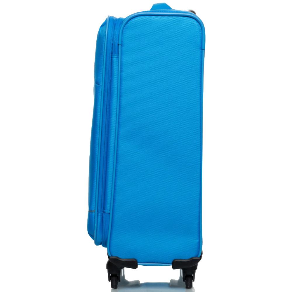 Средний чемодан 66х42х26см Roncato Jazz голубого цвета