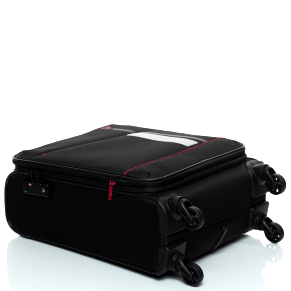 Малый черный чемодан 55х35х20см Roncato Jazz на 4-х колесах