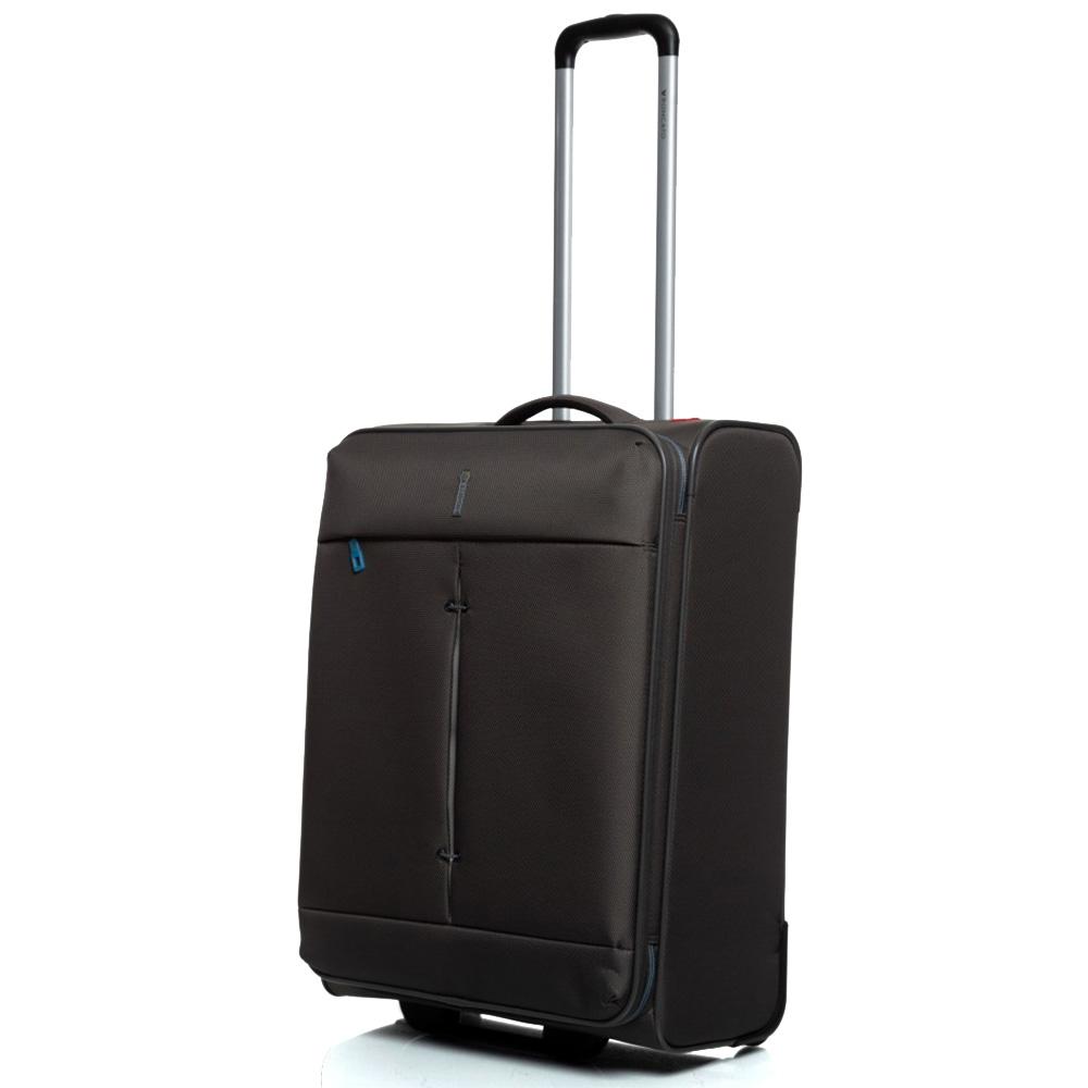 Средний чемодан 67x44x27-31см Roncato Ironik цвета антрацит