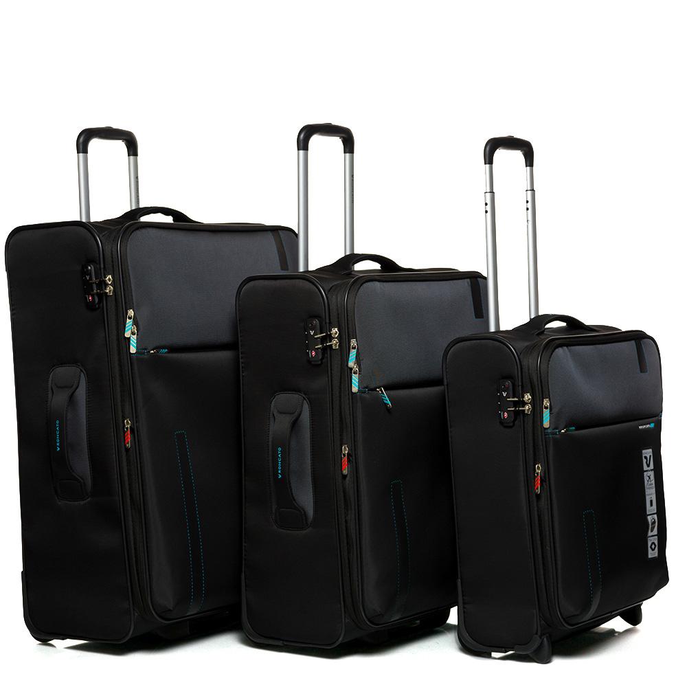 Большой дорожный чемодан 78х48х29-32см Roncato Speed черного цвета
