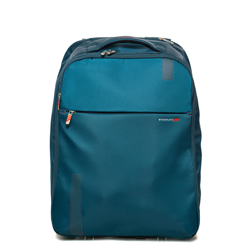 Дорожный рюкзак на колесиках 55x40x20см Roncato Speed синего цвета