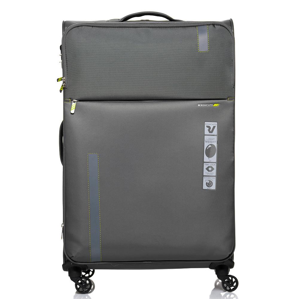 Большой дорожный чемодан 78х48х29-32см Roncato Speed  цвета антрацит