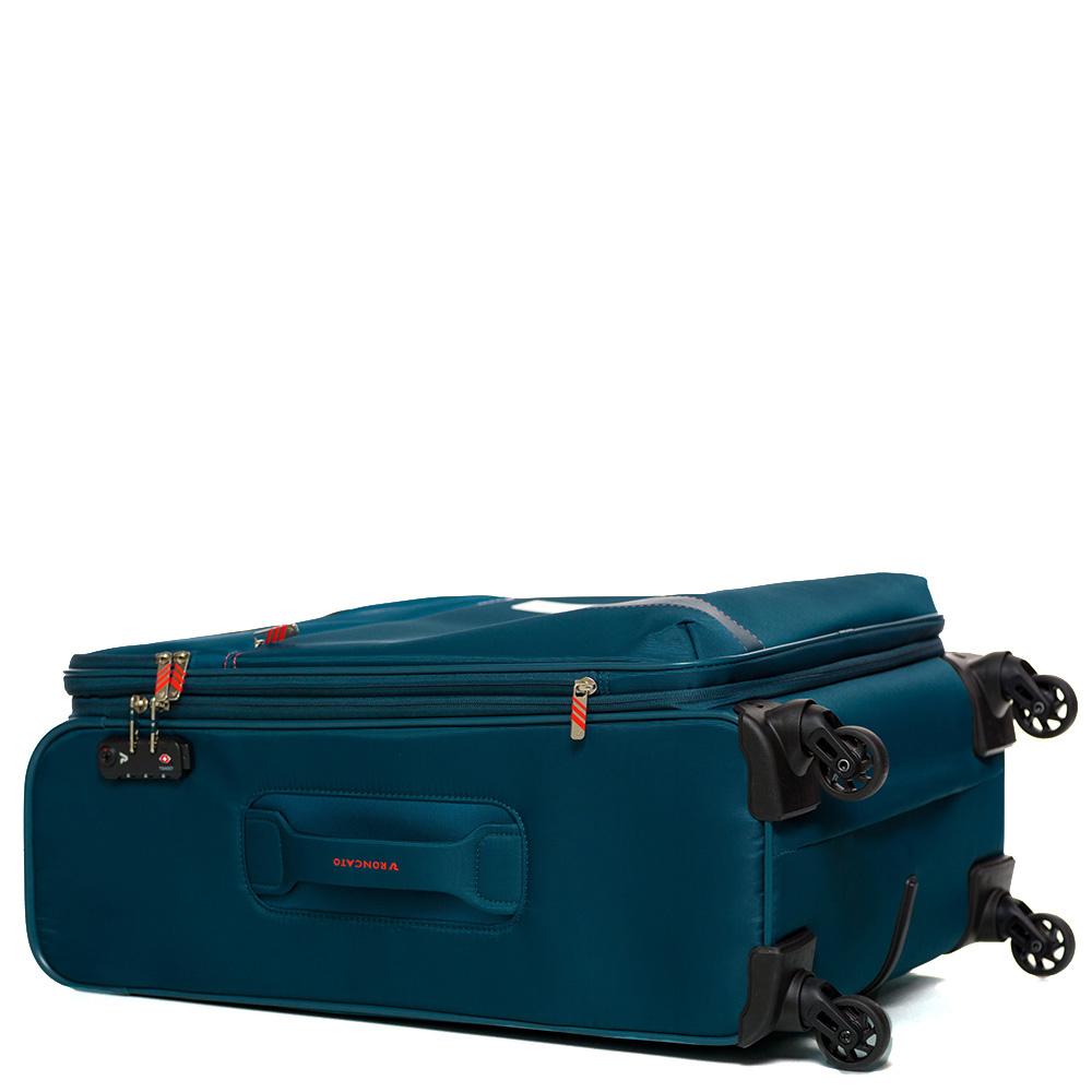 Дорожный чемодан среднего размера 67х44х27-31см Roncato Speed синего цвета  4-х колесный