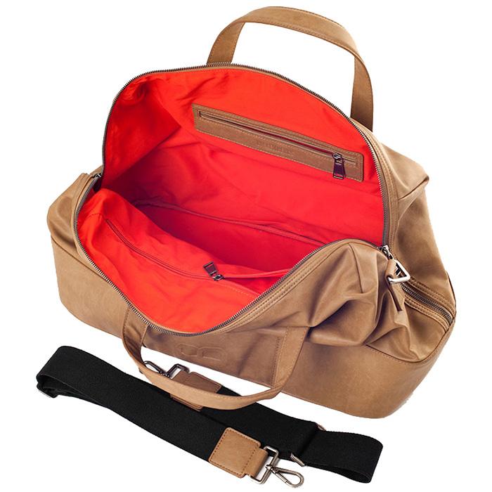 Коричневая дорожная сумка Bikkembergs