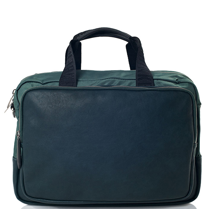 Дорожная сумка Bikkembergs зеленого цвета