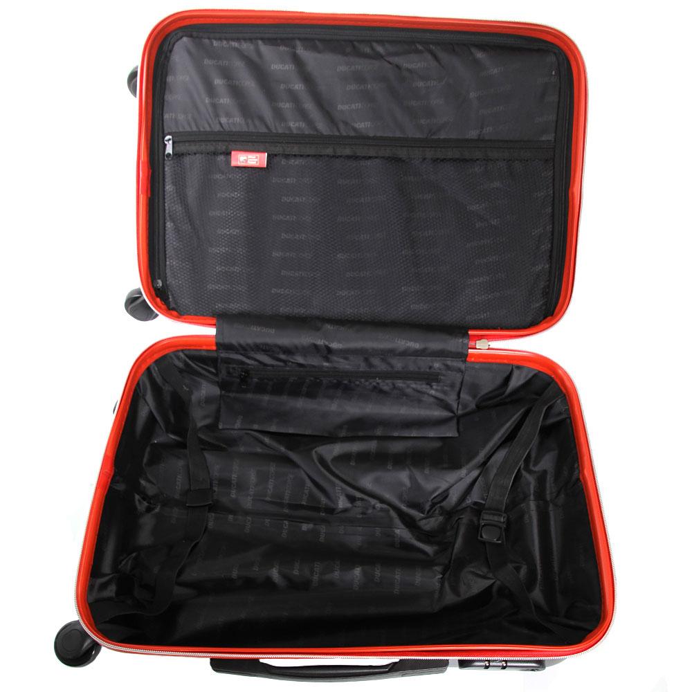 Маленький чемодан Ducati черного цвета