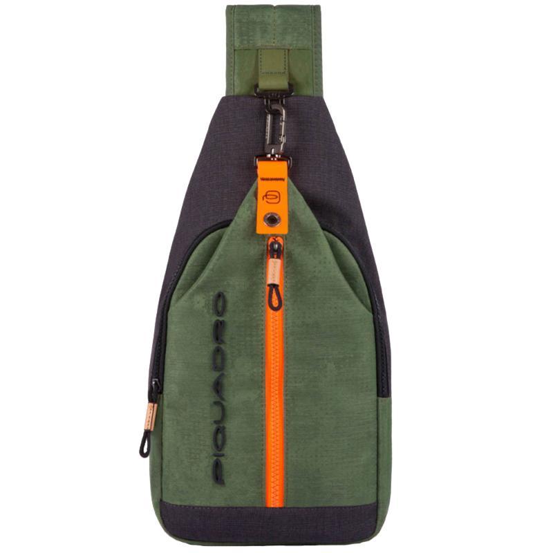 Монорюкзак Piquadro Blade зеленого цвета