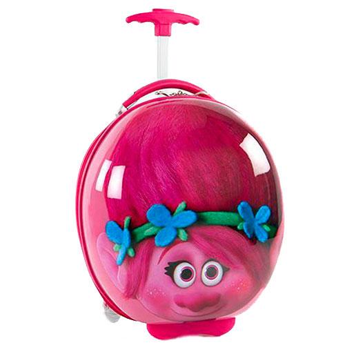 Детский розовый чемодан Heys Dreamworks Trolls маленький